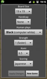 GOdroid - экран настроек